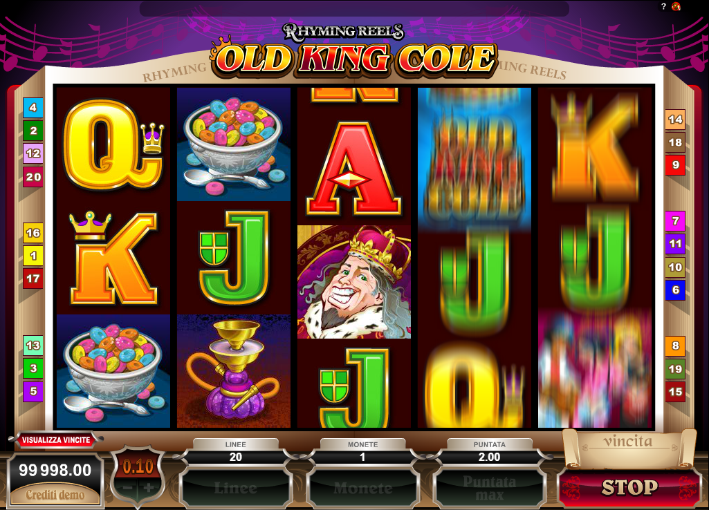 Rhyming Reels - Old King Cole Slots with No Registration