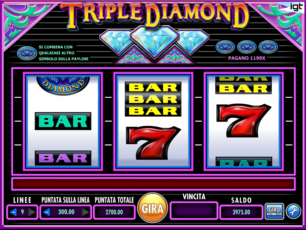 Triple Diamond Online Slots