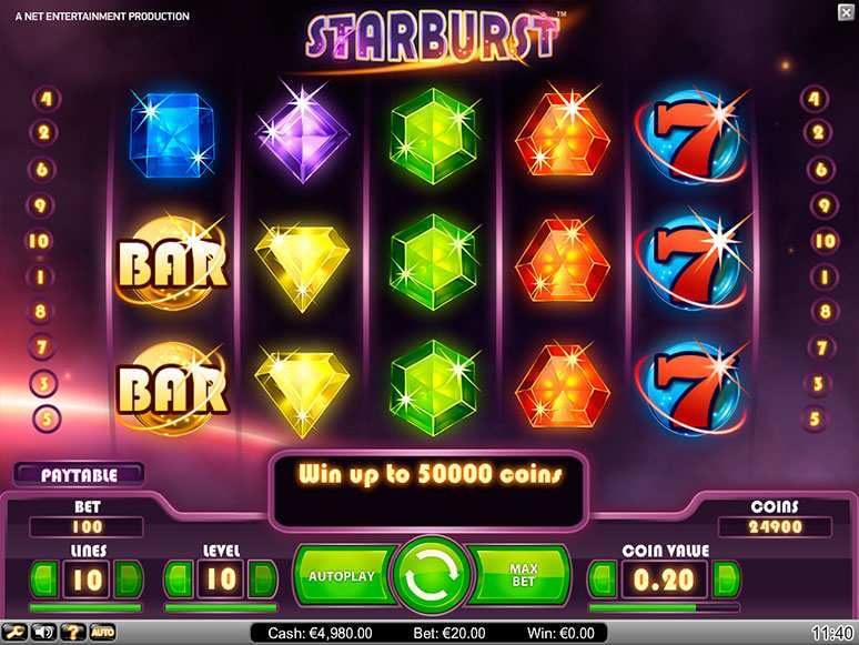 Starburst Slot for Real Money - NetEnt Online Slots
