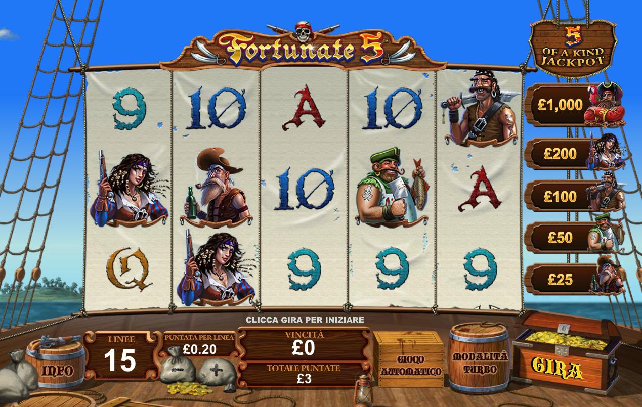 Fortunate Five Slot Machine