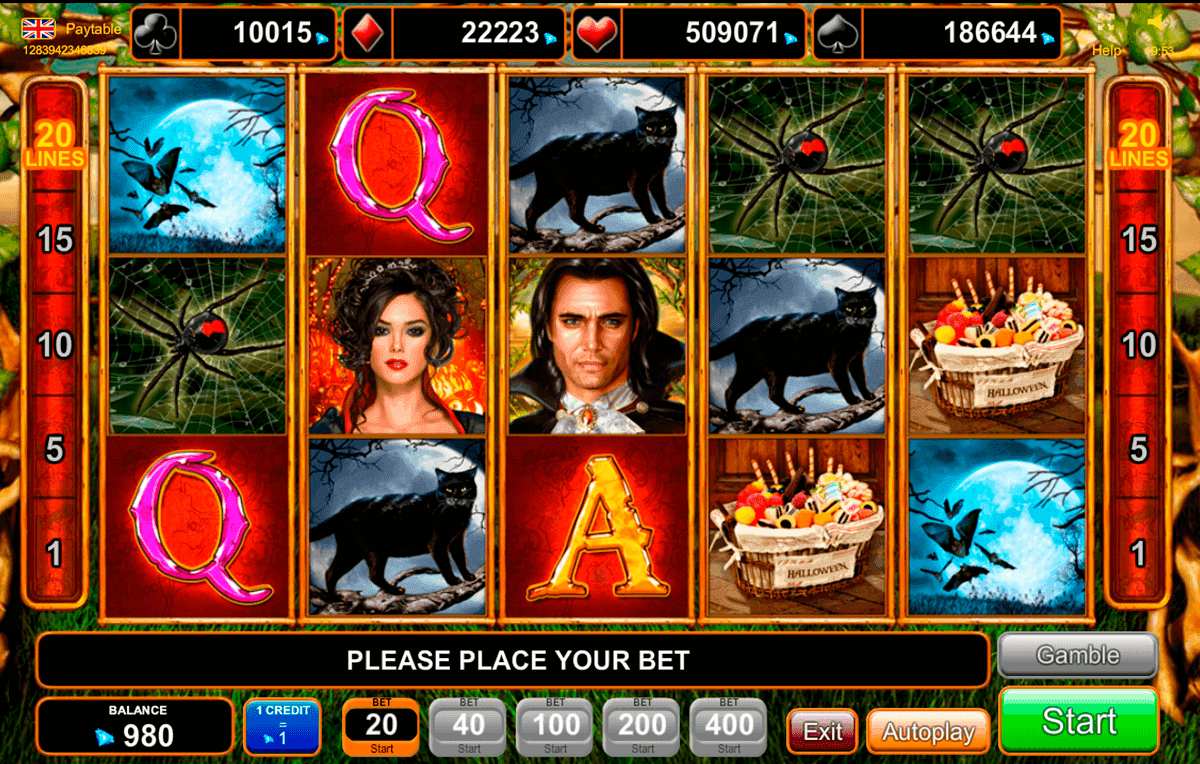 Play for free Microgaming's Halloween Slot