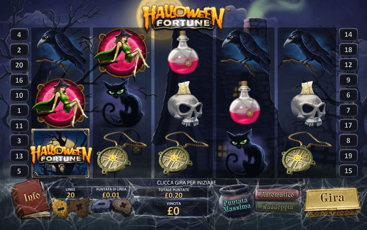 Play Halloween Fortune slot by Playtech