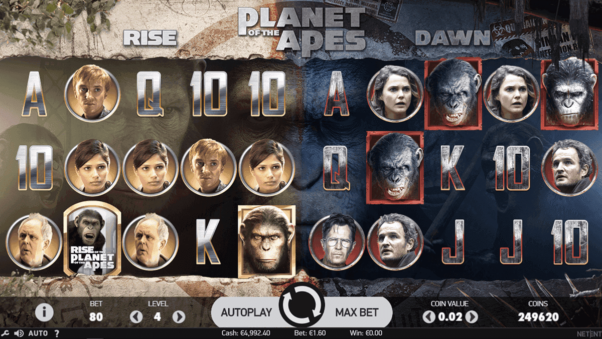 Planet of the Apes Slot ▷ Free Play Planet of the Apes Online Casino Slots  [No Download]