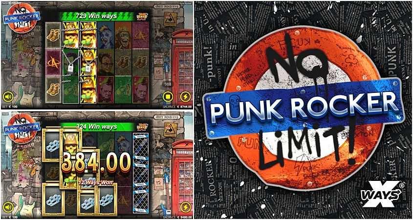 punk rocker megaways slot machine