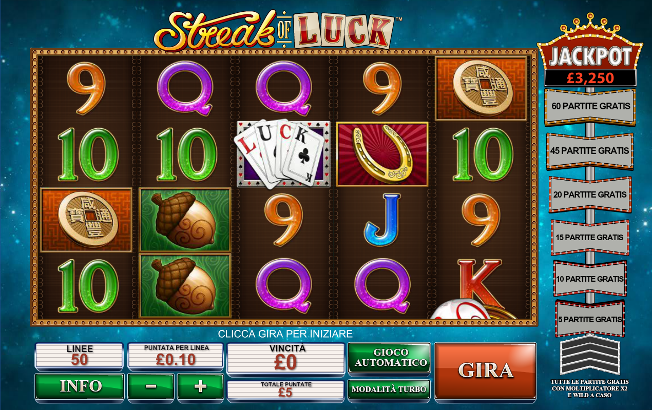 Lock go for the progressive jackpot playing streak of luck slots menu