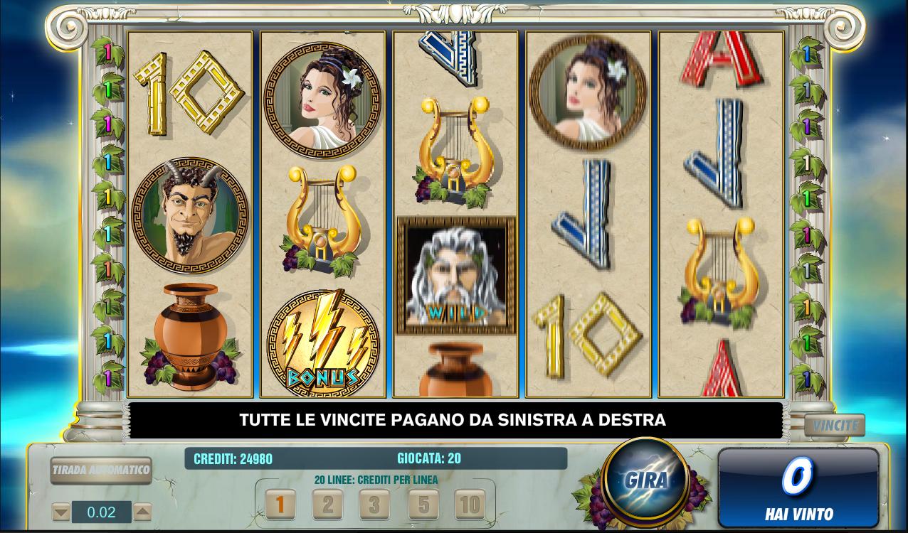 Zeus casino slots free